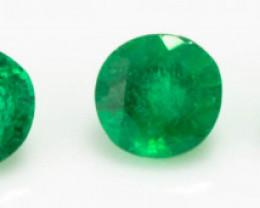 1.90 mm Green Emerald  0.14 ct Zambia