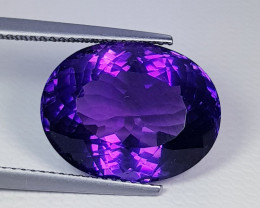 "11.50 ct "" Collector's Gem"" Fantastic Oval Cut Natural Amethyst"