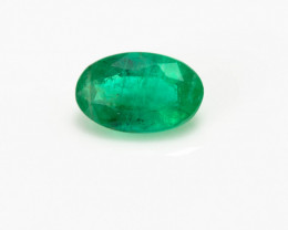3 x 5  mm Green Emerald  0.24 ct Zambia