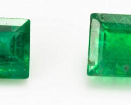 2.40 mm Green Emerald  0.35 ct Zambia