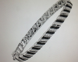 Black and White Diamond Bracelet 1.00 TCW