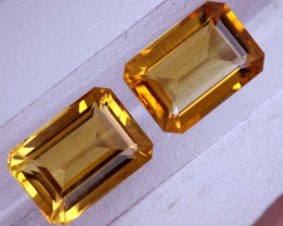 1.80-CTS CITRINE NATURAL FACETED PAIR CG-2654