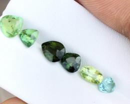 5.15 Ct Natural Greenish Transparent Tourmaline Gems Parcels