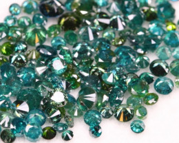 8.50Ct Fancy Green Natural Diamond Auction Parcel Lot