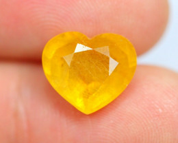 4.40cts Yellow Colour Sapphire / VG63