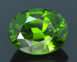 Rare 1.94 ct Green Zircon Great Luster Unheated Cambodia SKU.7