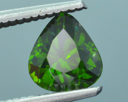 Rare 2.04 ct Green Zircon Great Luster Unheated Cambodia SKU.7