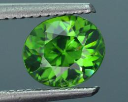 Rare 1.66 ct Green Zircon Great Luster Unheated Cambodia SKU.7