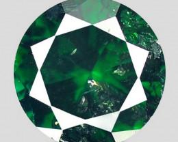 0.16Ct 3.3mm Dark Green Natural Fancy Diamond
