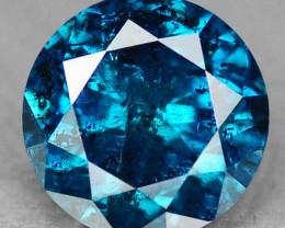 0.16Ct 3.4mm Mesmerizing Blue Natural Fancy Diamond