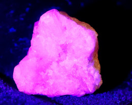 48.95 CT Natural -UV Light Color Change  Purple Hackmanite Specimen