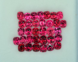 13.55 Cts Stunning Lustrous Burmese Vivid Red Spinel Parcel
