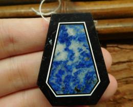 Natural gemstone lapis lazuli pendant bead (G0733)