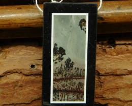 Gemstone chouhua jasper pendant bead (G0734)
