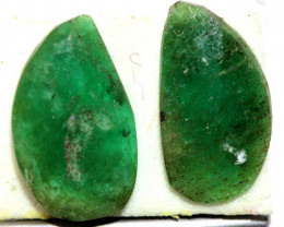 2.56 CTS  EMERALD FACETED PAIR ADG-93