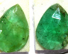 1.54 CTS  EMERALD FACETED PAIR ADG-94