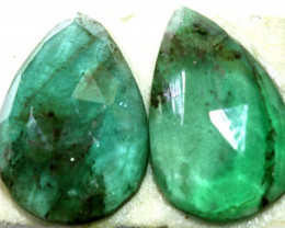 2.95 CTS -EMERALD FACETED PAIR ADG-95