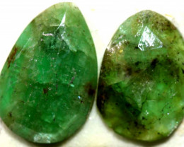 3.25 CTS  EMERALD FACETED PAIR ADG-100