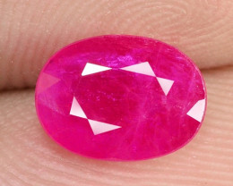 1.33 Cts NATURAL PINKISH RED RUBY LOOSE GEMSTONE