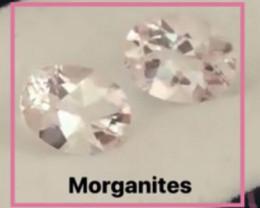 Pretty Pale Pink Morganite Pair H627