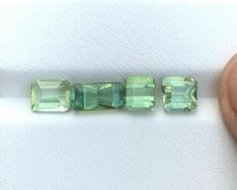 4.50 Ct Natural Sea Foam Color Transparent Tourmaline Gems Parcels