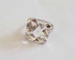 Crystal Checkerboard 925 Sterling silver ring #325