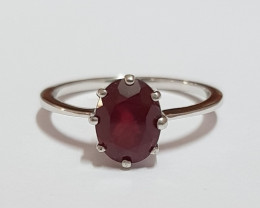 Ruby composite 925 Sterling silver ring #0938