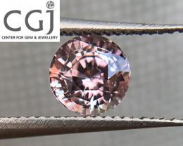 Certified - 0.70ct - Untreated Pinkish Peach Sapphire