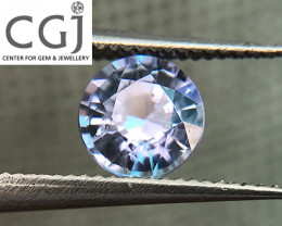 Certified - 0.74ct - Blue Sapphire