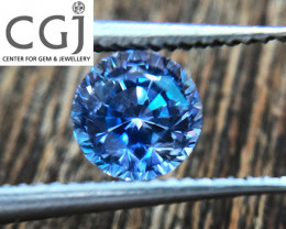 Certified - 0.60ct - Blue Sapphire