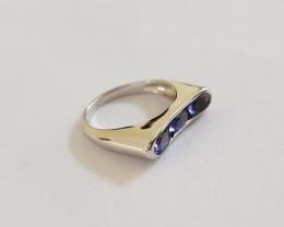Iolite 925 Sterling silver ring #092