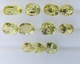 21 Carats Lemon Color Kunzite  Gemstones Parcel