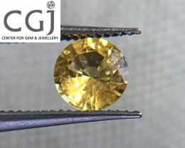 Certified - 0.59ct - Yellow Sapphire