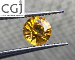 Certified - 0.56ct - Yellow Sapphire