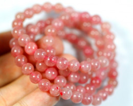 184.5Ct Natural Strawberry Quartz Necklace