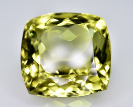 22.80 Crt Lemon Quartz Faceted Gemstone (R15)