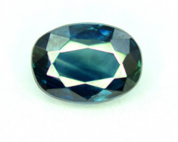 1.10 CT Bi-Color Flawless Parti Sapphire Gemstone Oval Cut