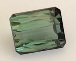 Very Luminous Emerald Cut 3.70 ct Green Tourmaline  H630