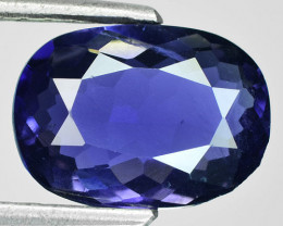 ~GORGEOUS~ 2.55 Cts Natural Deep Blue Iolite Oval Tanzania