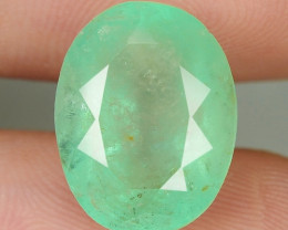 7.09 Cts NATURAL EARTH MINED GREEN COLOR COLOMBIAN EMERALD LOOSE GEMSTONE