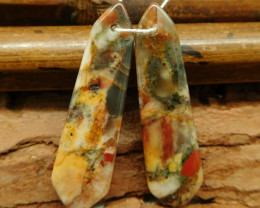 African bloodstone earring pairs (G0753)