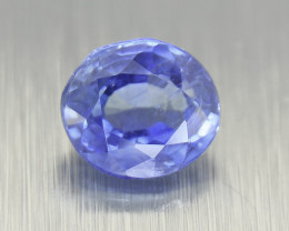 Unheated Natural Blue Sapphire, 0.82ct Certified (01459)