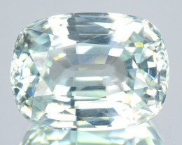 10.87 Cts Natural Gleaming Unheated White Zircon Oval Cut