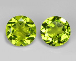 2  Pcs 2.74 Carat Unheated Parrot Green Color natural Peridot Loose Gemston