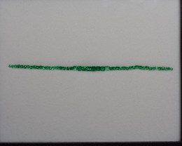 3.17 Carat Vivid Green Tennis Bracelet Layout