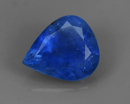 1.35 CTS AWESOME BLUE SAPPHIRE FACET GENUINE  PEAR MADAGASCA