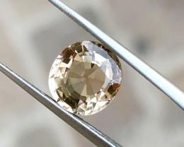 2.20 Ct Natural Yellowish Transparent Tourmaline Oval Cut Gemstone