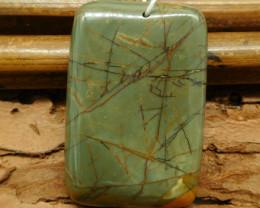 Square picasso jasper pendant (G0768)