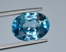 6  Ct Gorgeous Color Natural Vibrant Blue Zircon