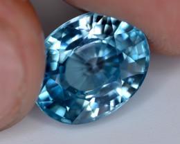 6.55 Ct Gorgeous Color Natural Vibrant Blue Zircon